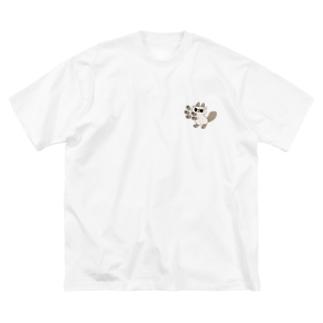ニャババ Big silhouette T-shirts