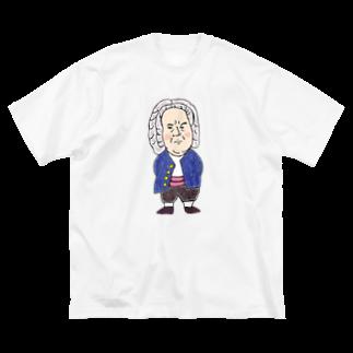 ミナミハチゴーの作曲家シリーズ:バッハ Big silhouette T-shirts