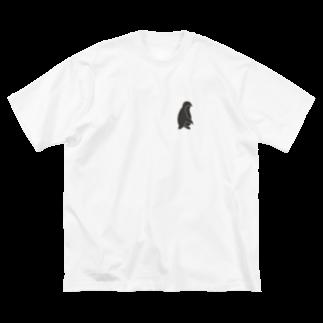 りすけのペンちゃん Big silhouette T-shirts