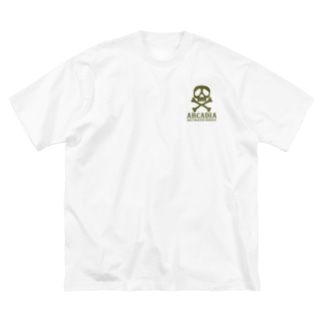2019ARCADIA OD髑髏ロングスリーブT Big silhouette T-shirts
