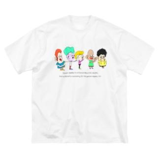親友にも親友がいる Big silhouette T-shirts