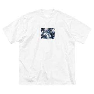 ヤシの木 Big silhouette T-shirts