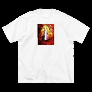 ごちゃごちゃの灯火 Big silhouette T-shirts