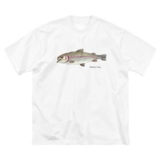 ニジマスくん Big silhouette T-shirts
