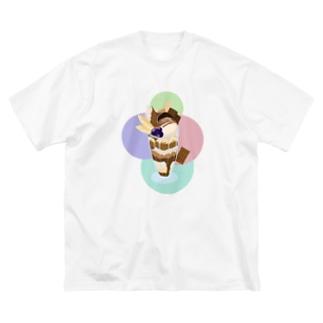 チョコレートパフェ  カラフル Big silhouette T-shirts