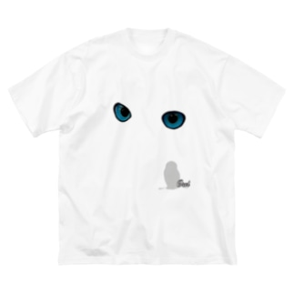 owl's eye Big silhouette T-shirts