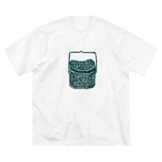 NIKORASU GOのアウトドア・キャンプデザイン「飯盒<文字なし>」 Big silhouette T-shirts