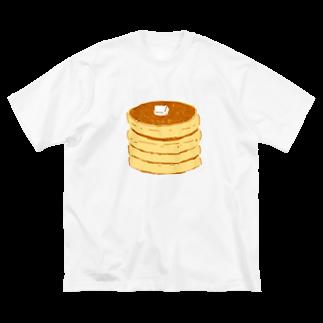 NIKORASU GOのパンケーキ<皿なし> Big silhouette T-shirts