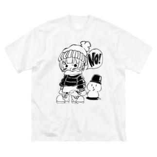 イヤイヤ子ちゃん 雪あそびver. Big silhouette T-shirts