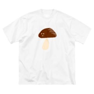 哀愁きのこ Big silhouette T-shirts