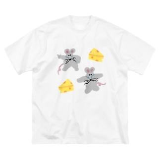 フィーバーねずみの予感 Big silhouette T-shirts
