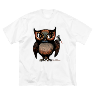 "Dark blancoのDark blanco ""Owl"" Big silhouette T-shirts"
