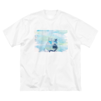 Meow__35のネコとソラ Big silhouette T-shirts