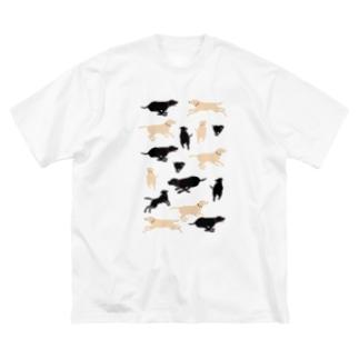 イエローラブ ブラックラブライフ  Big silhouette T-shirts
