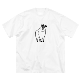 よっこら商店のカモシカ Big silhouette T-shirts