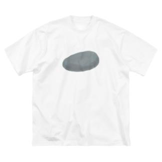 石 Big silhouette T-shirts