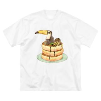 ホットケーキとオオハシさん Big silhouette T-shirts