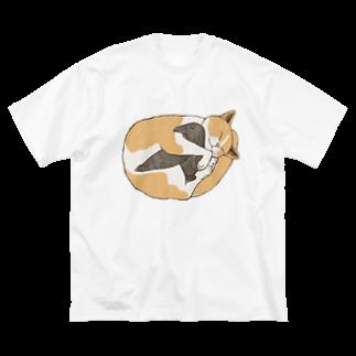Dark blancoの猫とカラス Big silhouette T-shirts