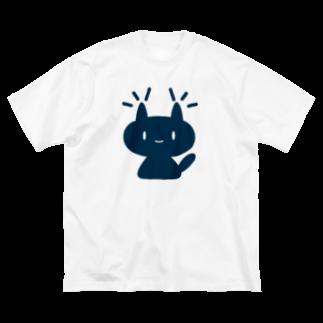 ガモさんのネコミミ「るーちゃん」 Big silhouette T-shirts