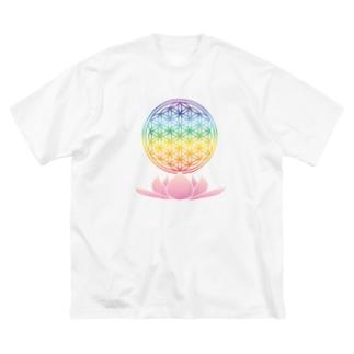 虹FOLと蓮 Big silhouette T-shirts