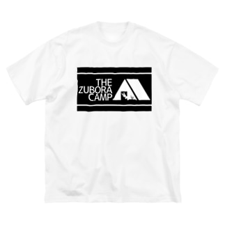 ズボラキャンプ Big silhouette T-shirts