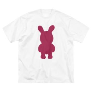 たぶんセーフ Big silhouette T-shirts