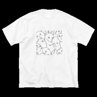 むきむき   地球生活のトモダチ Big silhouette T-shirts