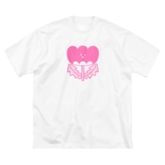 ピンクのおはな Big silhouette T-shirts