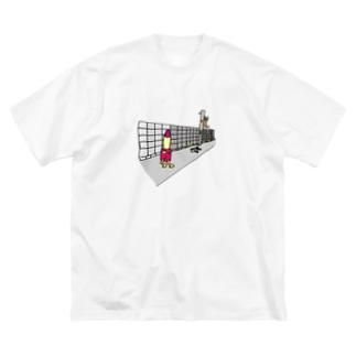 口紅星人 Big silhouette T-shirts