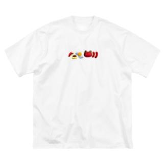 お弁当整列 Big silhouette T-shirts