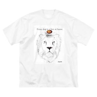 caffe Zoo Lion Big silhouette T-shirts