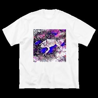 Fantastic FrogのFantastic Frog -Lapis Lazuli Version- Big silhouette T-shirts