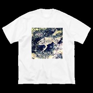 Fantastic FrogのFantastic Frog -Edo Ukiyoe Version- Big silhouette T-shirts