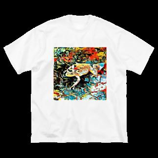 Fantastic FrogのFantastic Frog -Plein Air Version- Big silhouette T-shirts