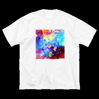 河原の水底 Big silhouette T-shirts
