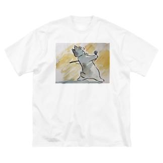ボヘミアン・ニャプソディ Big silhouette T-shirts