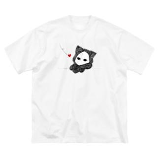 たそがれ キズねこ Big silhouette T-shirts