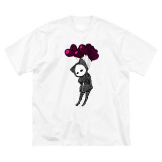 愛、苦しい キズねこ Big silhouette T-shirts