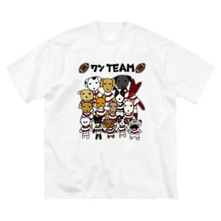 ワンTEAM Big silhouette T-shirts