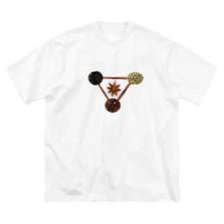 Danke Shoot Coffeeの五香粉 Big silhouette T-shirts