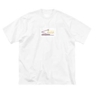 電車のシングルアーム パンタグラフ Big silhouette T-shirts