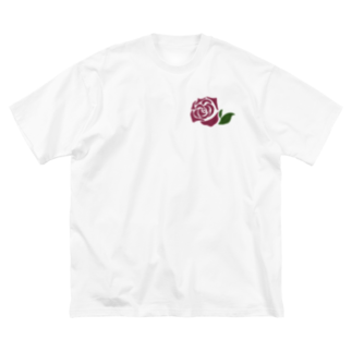 __art__01__のワンポイント薔薇🌹 Big silhouette T-shirts