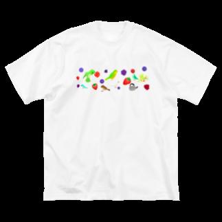 Lily bird(о´∀`о)のベリーずと鳥ーず Big silhouette T-shirts