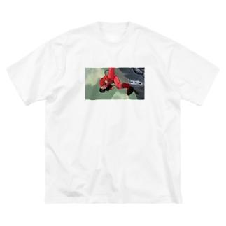 金田 Big silhouette T-shirts