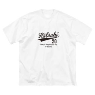20代専用 ハタチ 二十歳 Big silhouette T-shirts