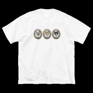 madein8☞shopの3cat-man Big silhouette T-shirts