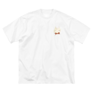 Neko-cry- Big silhouette T-shirts