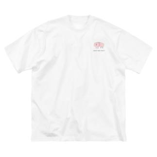 ハダカデバネズミ Big silhouette T-shirts