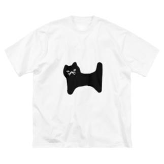 nyaaaan Big silhouette T-shirts