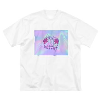 電脳千ャ人ナパト口ーノレ Big silhouette T-shirts
